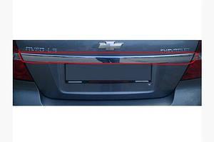 Задняя планка (нерж.) - Chevrolet Aveo T250 2005-2011 гг.