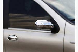 Накладки на зеркала (2011-2021, 2 шт, пласт.) - Fiat Albea 2002↗ гг.
