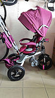 "Велосипед трехколесный Azimut T-500 ""AL"" TRANSFORME РозовыйR, фото 1"