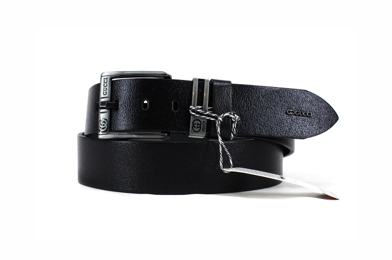 Gucci №5 кожаный черный ремень