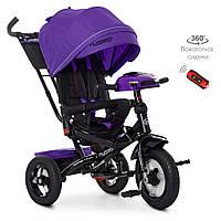 Велосипед трехколесный TURBOTRIKE M 4060HA-8 Фиолетовый, фото 1