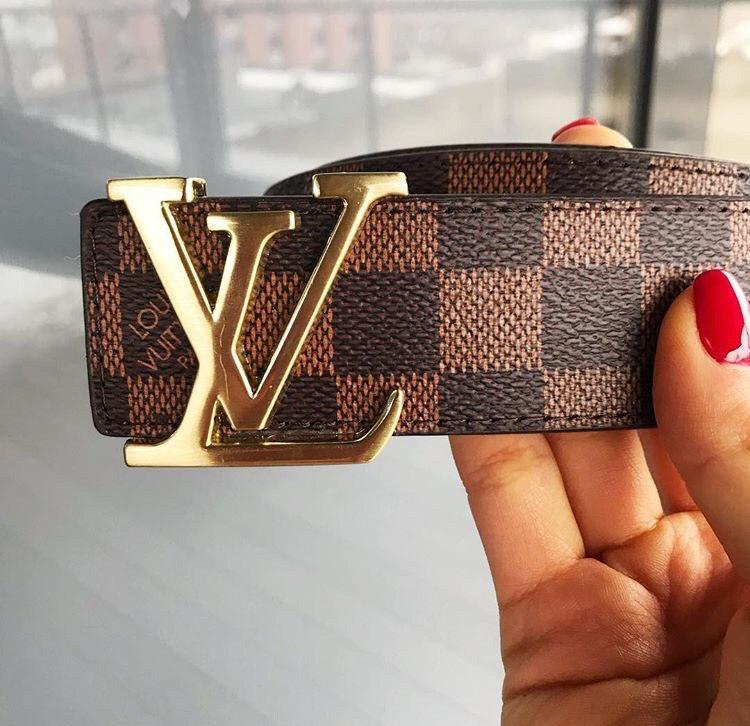 Louis Vuitton кожаный коричневый ремень