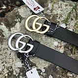Ремень в стиле Gucci пряжка золотая, фото 2