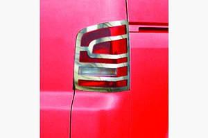 Накладки на стопы Multivan (2 шт, пласт.) - Volkswagen T5 рестайлинг 2010-2015 гг.