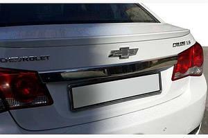 Накладка над номером (нерж) OmsaLine - Итальянская нержавейка - Chevrolet Cruze 2009↗ гг.