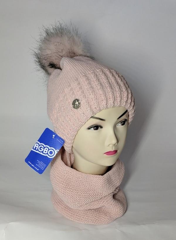 Комплект для девочки (шапка+хомут) Agbo 2321 Gdine (K-24) Размер 52-56 см Возраст 8-16 лет