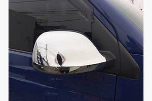 Накладки на зеркала (2 шт, хром) ABS - Хромированный пластик - Volkswagen T5 рестайлинг 2010-2015 гг.