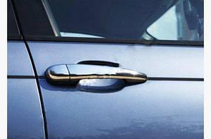 Накладки на ручки (4 шт., нерж.) 1998-2003, Carmos - Турецкая сталь - BMW 3 серия E-46 1998-2006 гг.