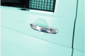 Накладки на ручки (нержавійка) 3 штуки. Carmos - Турецька сталь - Volkswagen T5 Multivan 2003-2010 рр.