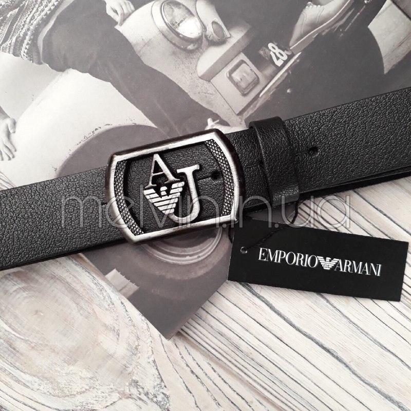 Ремень кожаный в стиле Emporio Armani