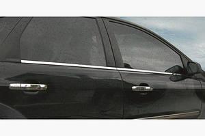 Наружняя окантовка стекол (4 шт, нерж.) - Ford C-Max 2004-2010 гг.