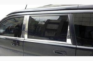 Молдинг дверных стоек (нерж) - Honda HR-V 1998-2006 гг.