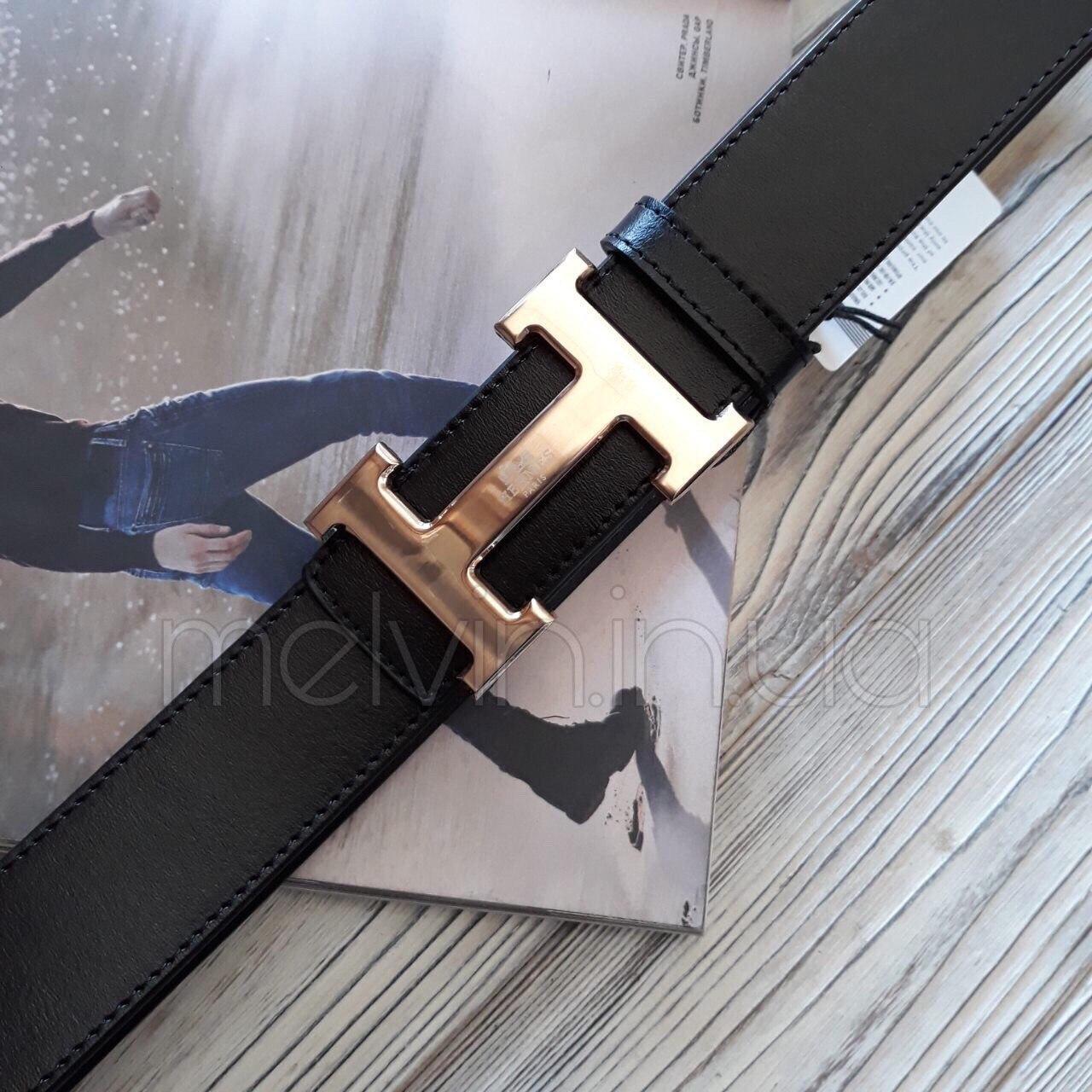 Ремень кожаный в стиле Hermes