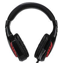 Наушники игровые Xtrike ME HP-310 Black черные с микрофоном геймерские, фото 3