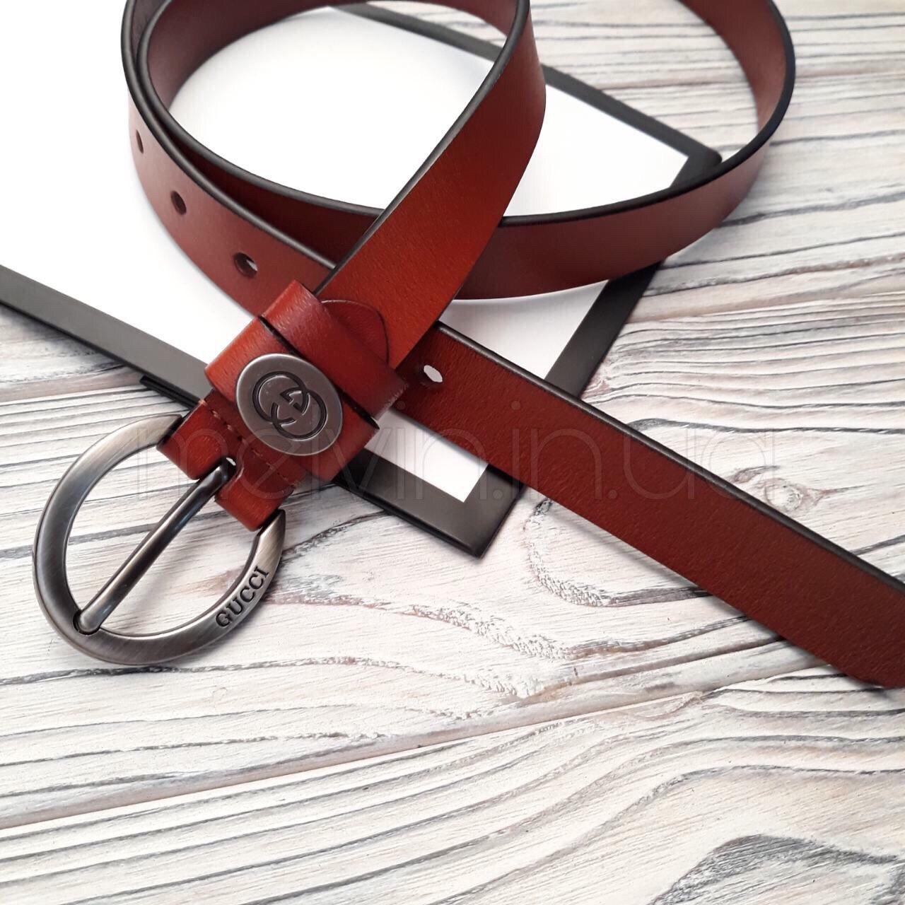 Ремень кожаный в стиле Gucci
