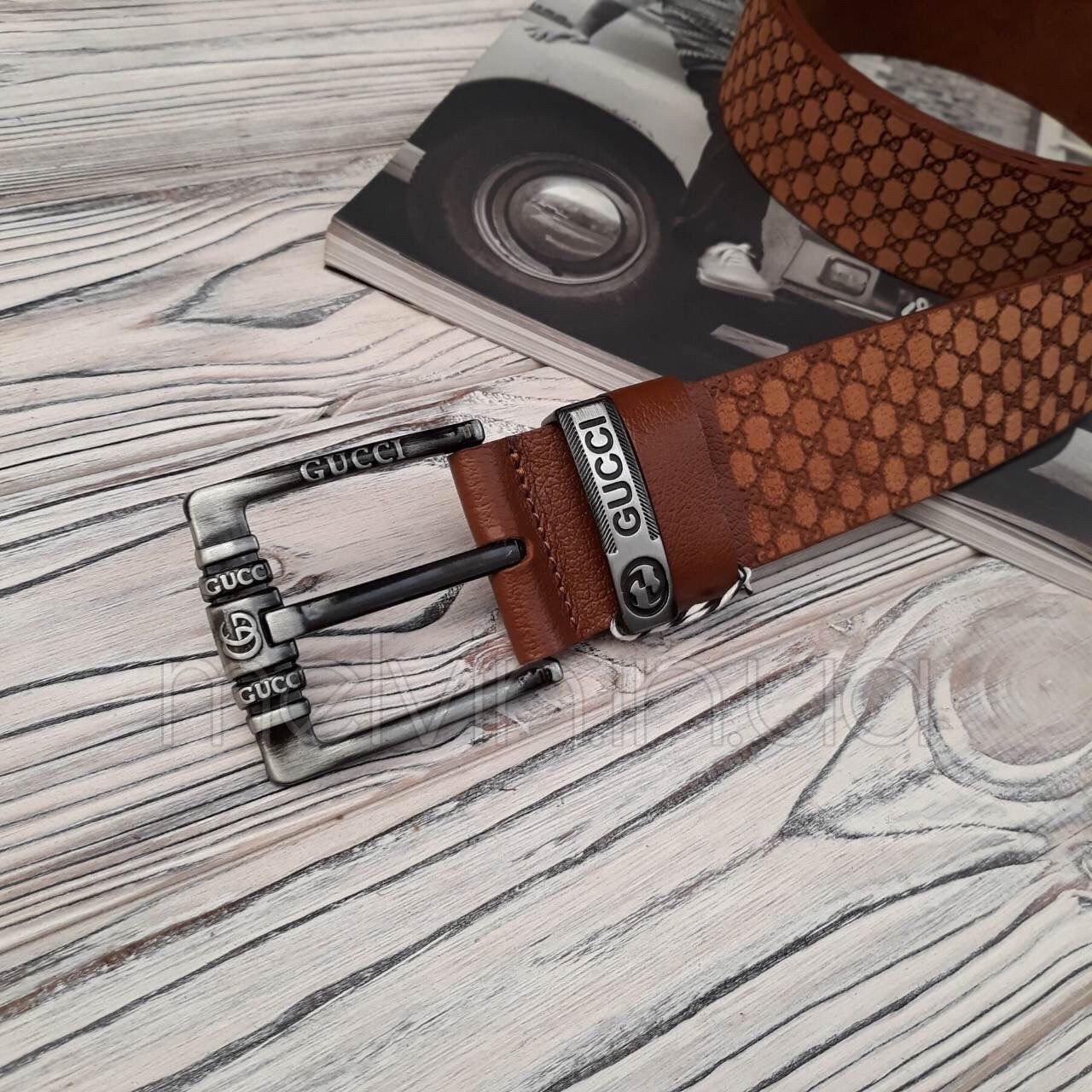 Ремень кожаный в стиле Gucci реплика