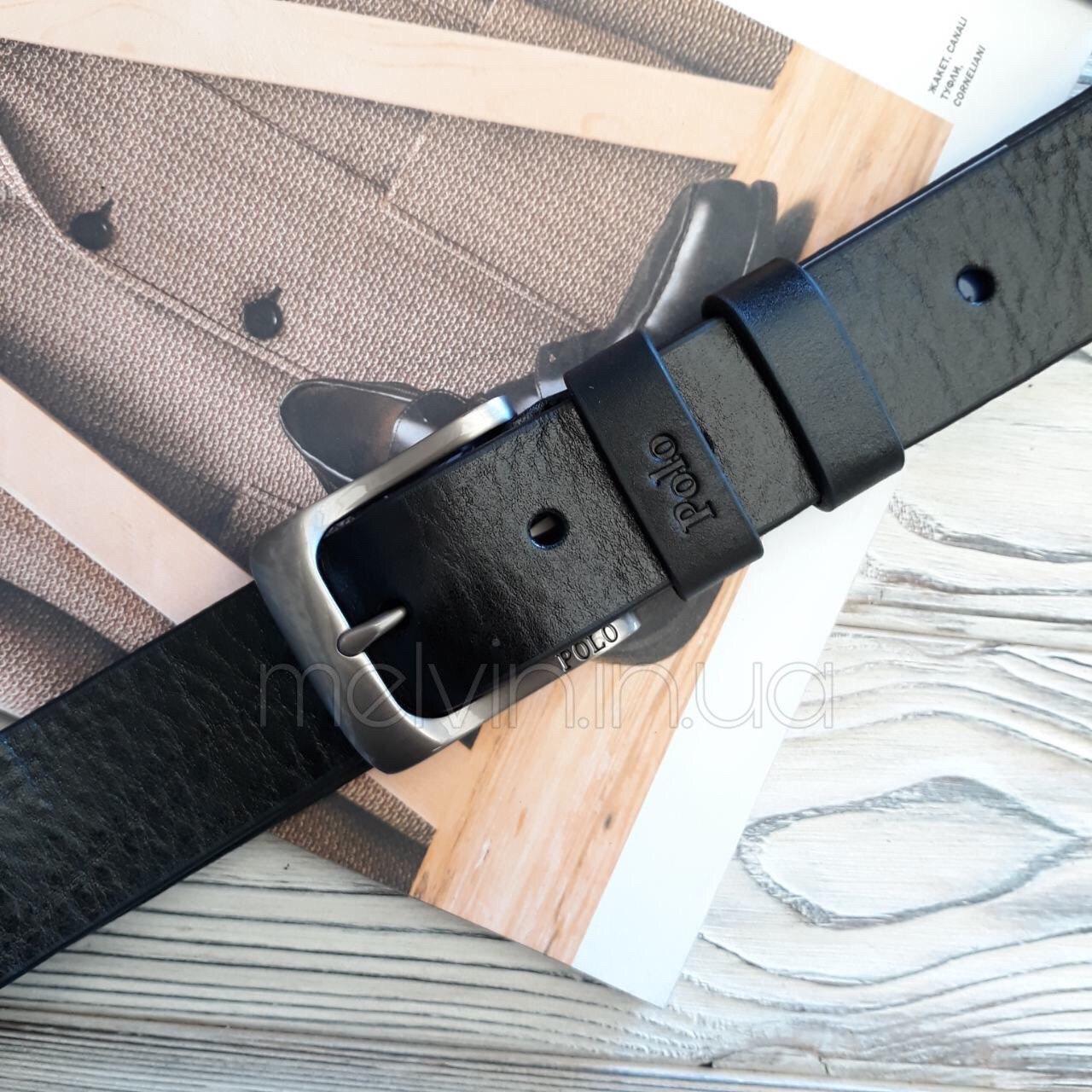 Ремень кожаный в стиле Polo