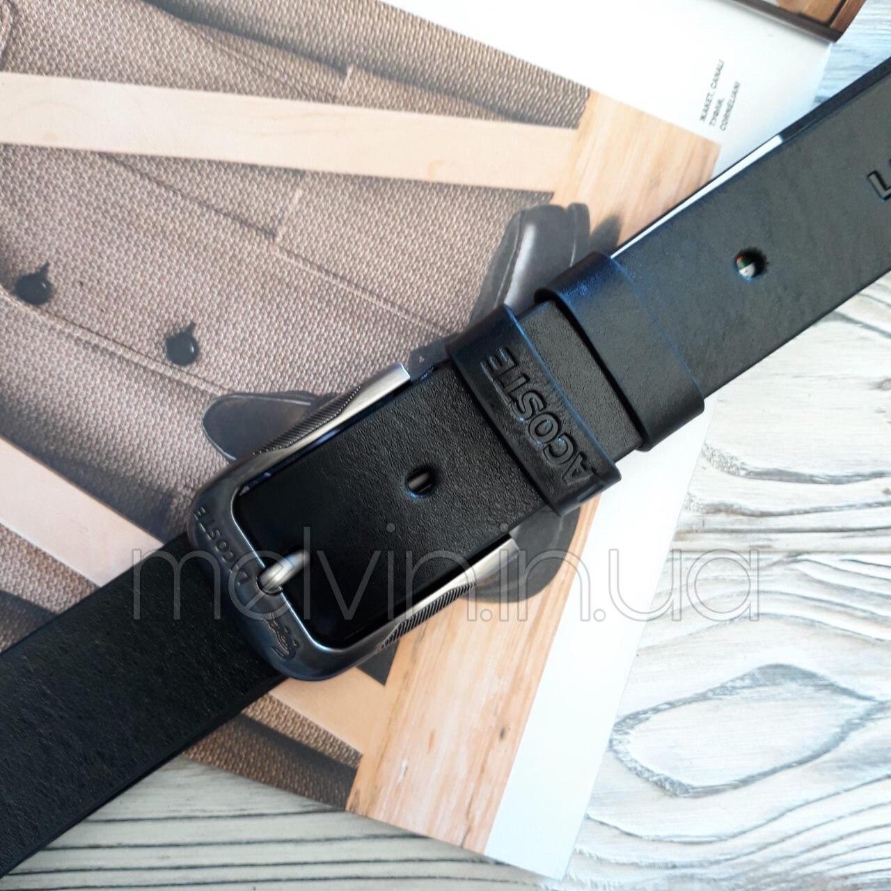 Ремень кожаный в стиле Lacoste реплика
