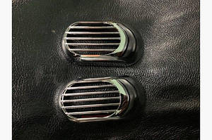 Решетка на повторитель `Овал` (2 шт, ABS) - Chevrolet Volt 2010-2016 гг.