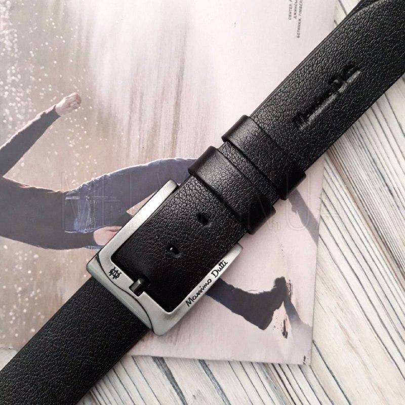 Ремень кожаный Massimo Dutti реплика Черный