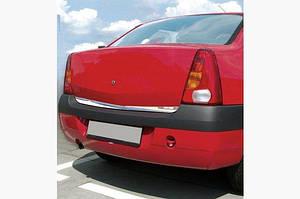 Накладка нижней кромки крышки багажника (нерж.) - Dacia Logan I 2005-2008 гг.