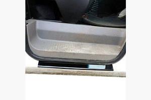 Накладки на пороги ABS (2 шт, пласт) Матовые - Dacia Logan I 2005-2008 гг.
