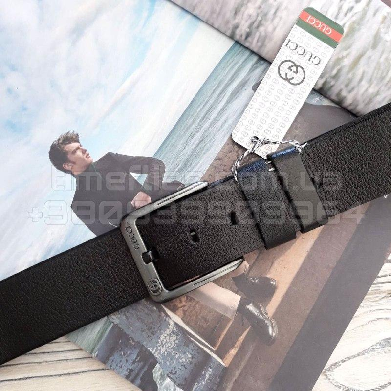 Мужской кожаный ремень Gucci Черный AAA Copy