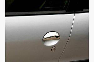 Накладки на ручки (нерж) 2 шт, OmsaLine - Итальянская нержавейка - Peugeot 206