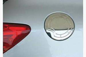 Накладка на лючок бензобака (нерж.) - Peugeot 206