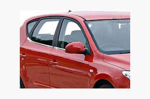 Нижние молдинги стекол (8 шт., нерж) - Hyundai I-30 2007-2011 гг.