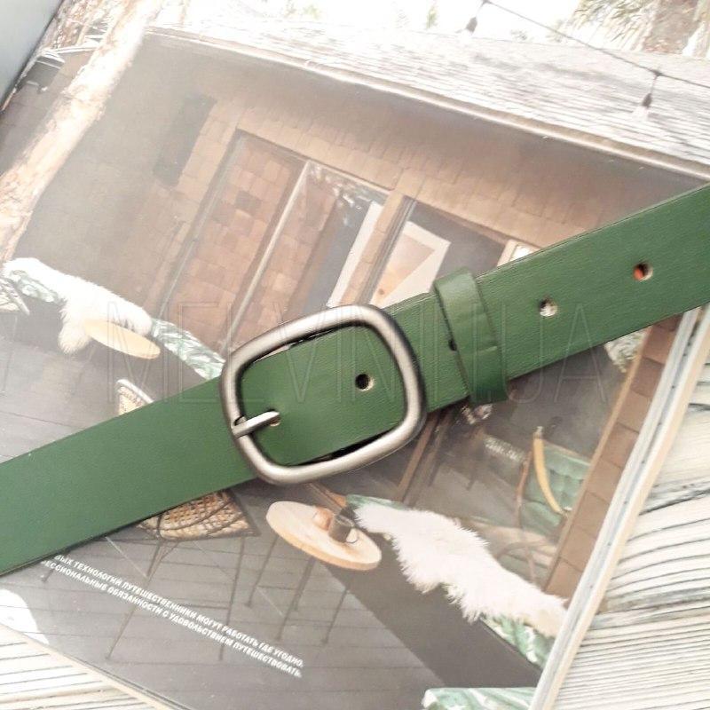 Женский кожаный ремень Зеленый