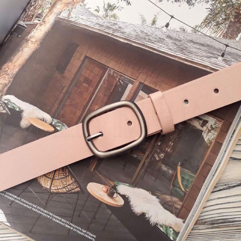 Женский кожаный ремень Розовый