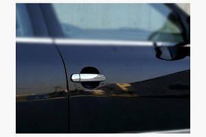 Накладки на ручки (4 шт, нерж.) OmsaLine - Итальянская нержавейка - Volkswagen Polo 2001-2009 гг.