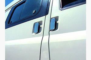 Накладки на ручки (нерж) 3 двери, OmsaLine - Итальянская нержавейка - Ford Transit 2000-2014 гг.