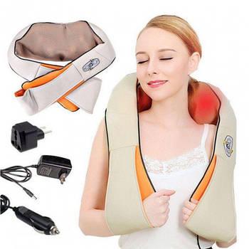Массажер для шеи плеч и спины с ИК-прогревом Massager Of Neck Kneading (200 NK)