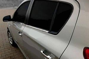 Нижние молдинги стекол (6 шт., нерж) - Hyundai I-20 2008-2012 гг.