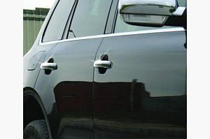 Накладки на ручки (4 шт, нерж) Без чипа, OmsaLine - Итальянская нержавейка - Volkswagen Touareg 2002-2010 гг.