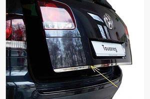 Кромка крышки багажника (нерж) OmsaLine - Итальянская нержавейка - Volkswagen Touareg 2002-2010 гг.