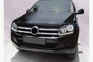 Накладки на решетку (широкие полоски, 4 шт, нерж) - Volkswagen Amarok