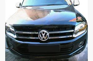 Накладки на решетку (узкие полоски, 4 шт, нерж) OmsaLine - Итальянская нержавейка - Volkswagen Amarok