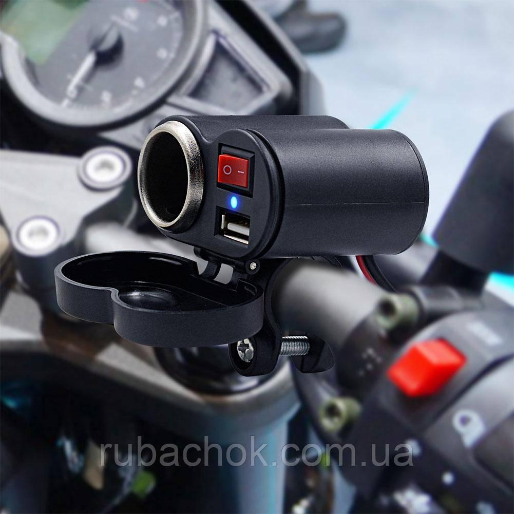 Зарядное USB адаптер на руль