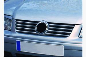 Накладки на решетку (8 шт, нерж) - Volkswagen Bora 1998-2004 гг.