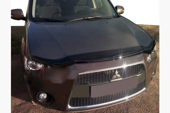 Дефлектор капота длинный 2009-2012 (SIM) - Mitsubishi Outlander 2006-2012 гг.