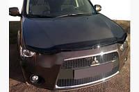 Дефлектор капота длинный 2009-2012 (SIM) - Mitsubishi Outlander 2006-2012 гг., фото 1
