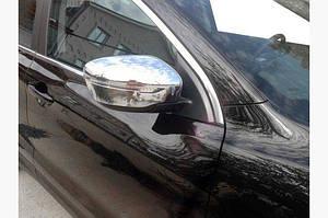 Накладки на зеркала Хром (2 шт, пласт.) - Nissan Qashqai 2014↗ гг.