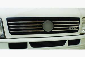 Накладки на решетку (8 шт, нерж) OmsaLine - Итальянская нержавейка - Volkswagen LT 1998↗ гг.