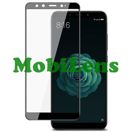Xiaomi Mi A2, Mi6X, M1804D2SG Защитное стекло черное, фото 2