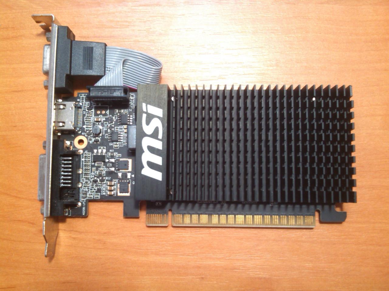 MSI GT 710 1GB 64bit GDDR3 HDMI PCI-E Гарантія!