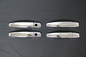 Накладки на ручки (4 шт) OmsaLine, Итальянская нержавейка - Opel Antara 2007↗ гг.