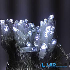 Светодиодная уличная гирлянда нить DELUX String Flash 10м 100 LED белая на прозрачном проводе